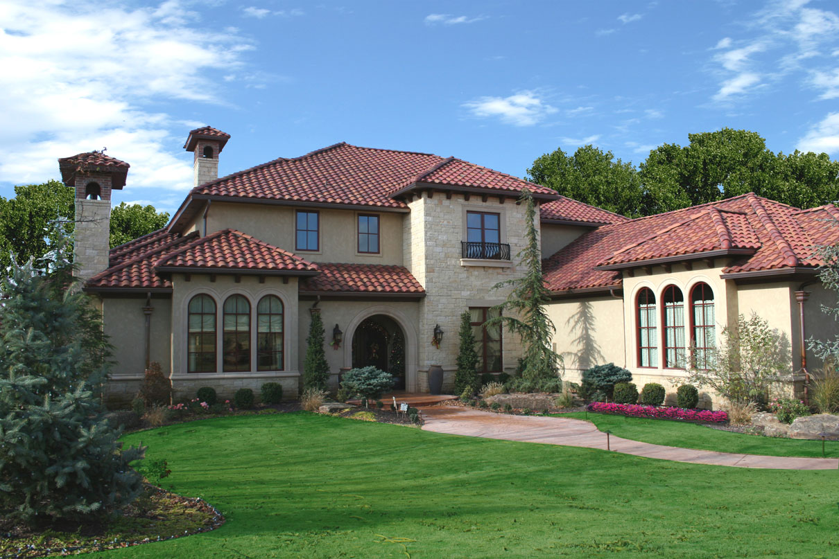 Brent gibson classic home design for Mediterranean roof styles
